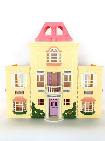 D-016 Fisher Price Dollhouse Cream & Pink