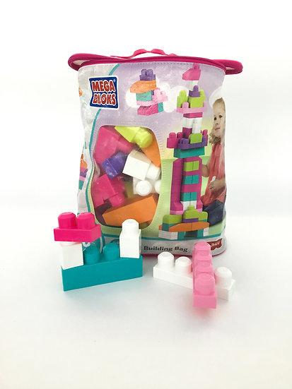 L-002 Mega Blocks Big Building Bag (Pink)