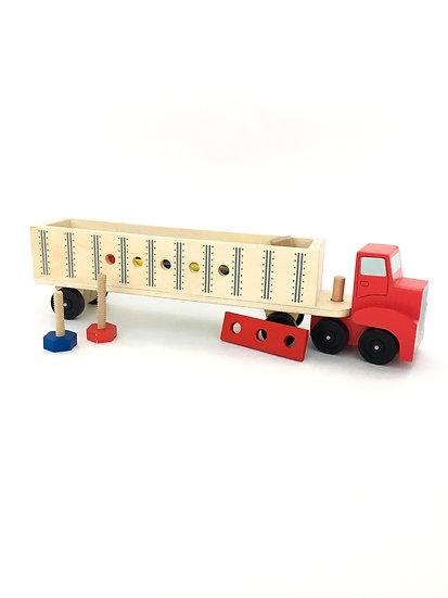 V-008 Wooden Semi Truck w/ Tools
