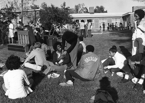 Students in South Bowl attending an outdoor show in the 1970s.