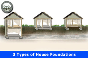3 Types of House Foundations.