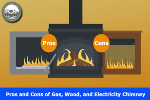 Pros and Cons of Gas, Wood, and Electric Chimneys.
