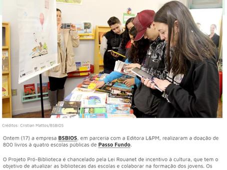 A L&PM Editores em conjunto a BSBIOS no projeto Pró-Biblioteca, realizaram a doação de 800 livros!
