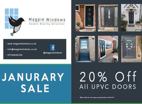 January Sale 20% Off All UPVC Doors