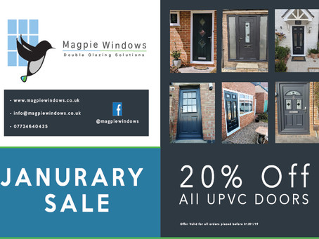 January Sale 20% Off All UPVC Doors