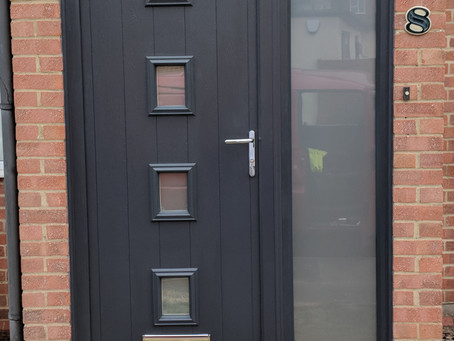 New anthracite grey composite door installed today in Abingdon.