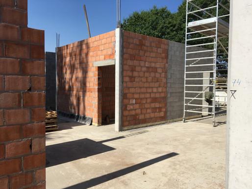 Een nieuw schooljaar, een volgende fase in de bouwwerken.