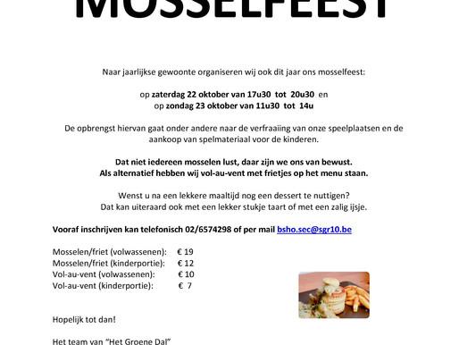 Mosselfeest: 22 en 23 oktober