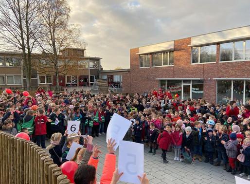 6.551,63 euro: zoveel hebben de leerlingen, hun ouders en de leerkrachten ingezameld tijdens de loop