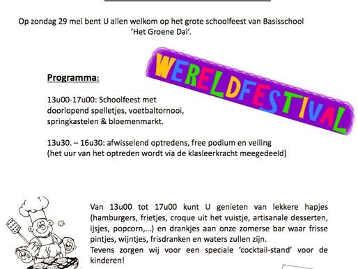 """Schoolfeest/Lentefeest in """"Het Groene Dal"""""""