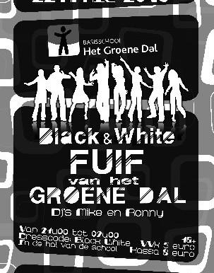 """Schoolfuif """"Black & White"""""""