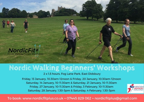 NordicFit+ Nordic Walking Beginners' Workshops, January