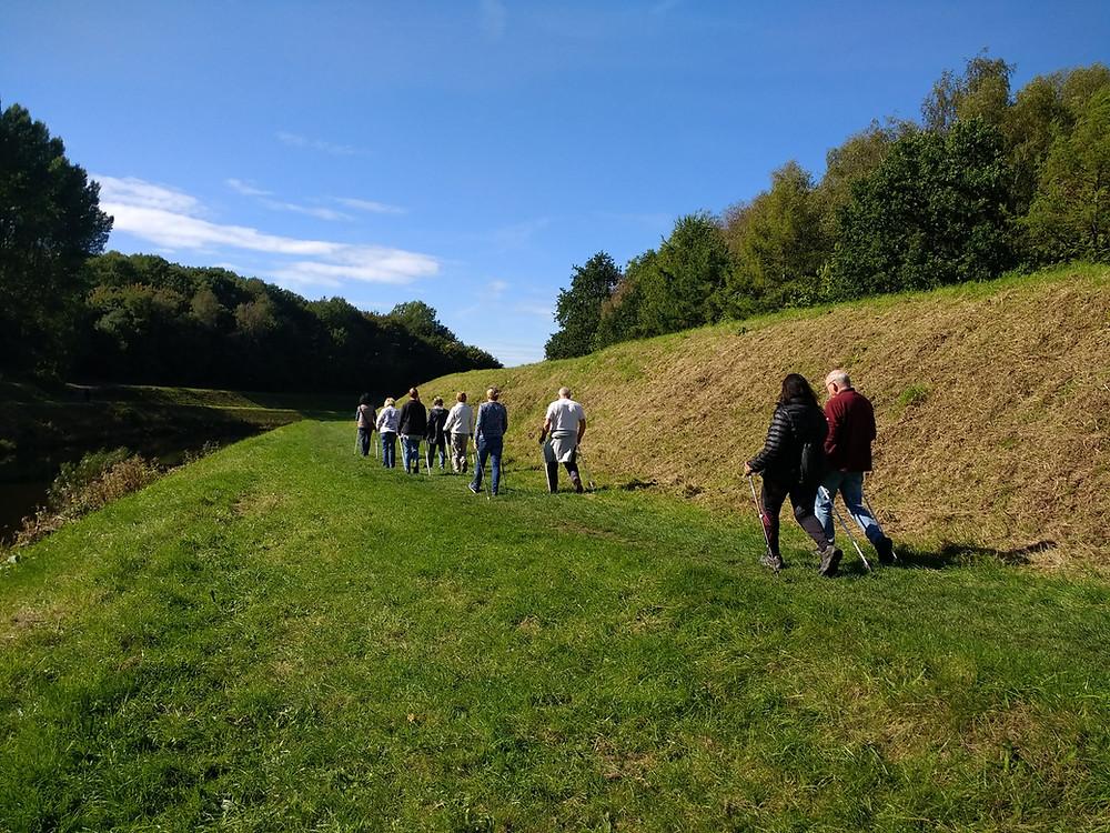NordicFit+ Nordic Walking group in Chorlton Water Park, Manchester