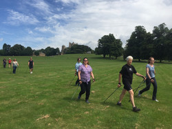 Marion with a group of instructors in Wollaton Park, Nottingham