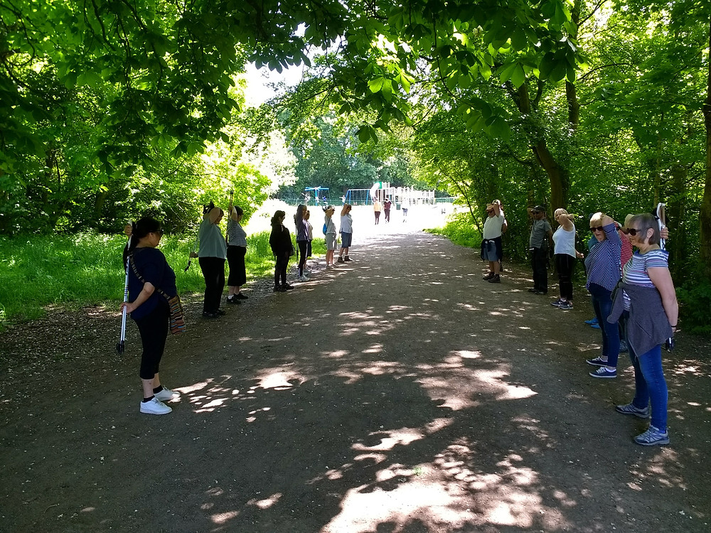 NordicFit+ Manchester Wellbeing Fund Nordic Walking group in Chorlton Water Park