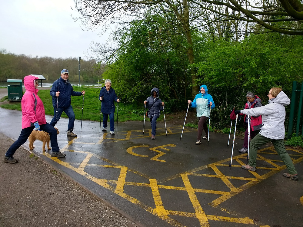 NordicFit+ Nordic Walking group in Chorlton Water Park, Manchester