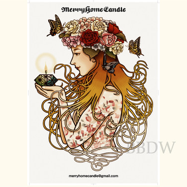 Merryhome Candle Image poster design