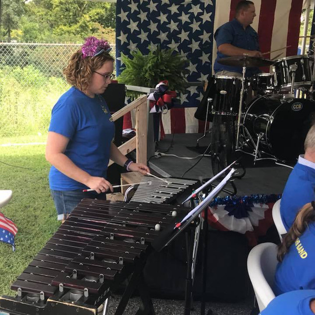 Carrie, our amazing mallet player