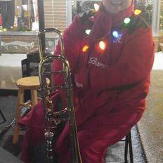 Janet (Trombone) in festive gear