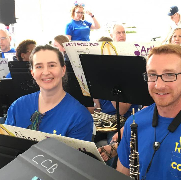Lynsdy and Tim, our new oboe player