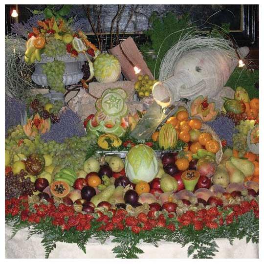 Tavolo frutta banchetto matrimonio