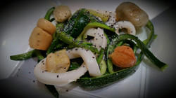 Julienne di calamari e zucchine