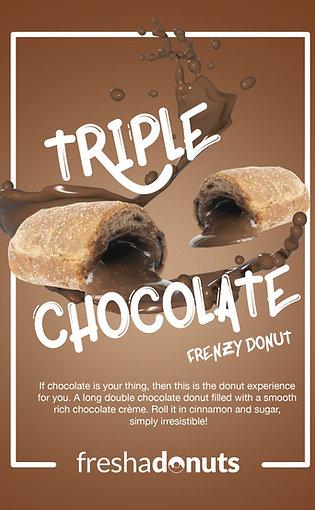 Triple Choc Frenzy Donut