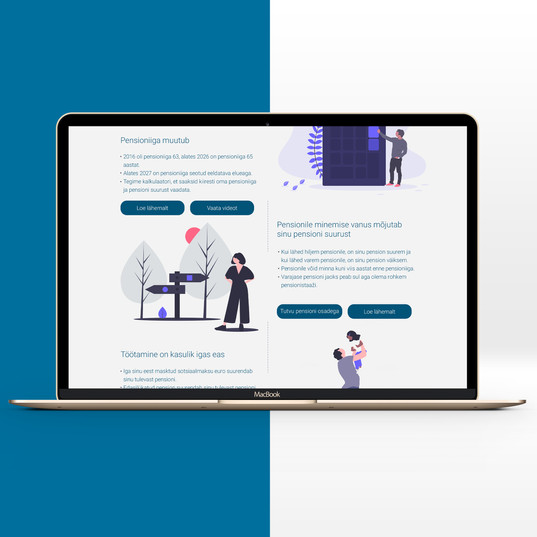 Pensioniplaani veebilehe disain