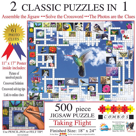 Sunsout - Taking Flight Crossword Puzzle (500)