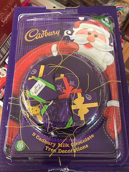 Cadbury - 9 Milk Choc Tree Decorations