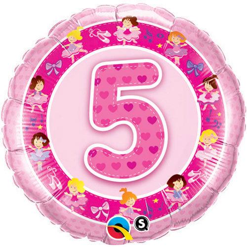 """Number 5 Princesses - 18"""" Foil"""