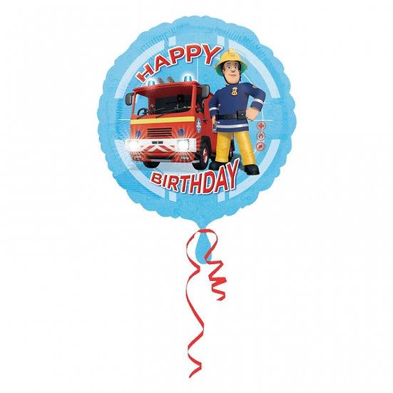 "Fireman Sam Birthday Balloon 18"""