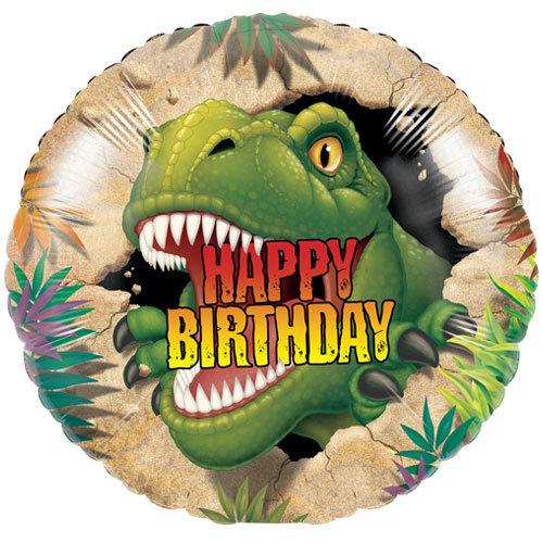 "T-Rex Happy Birthday - 18"" Foil"