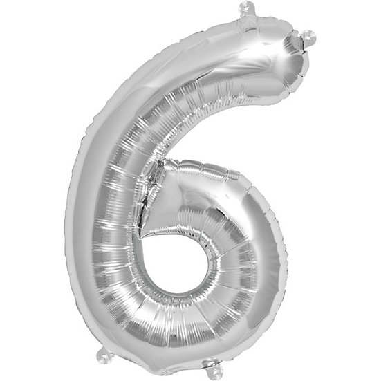 """34"""" Number 6 - Silver"""