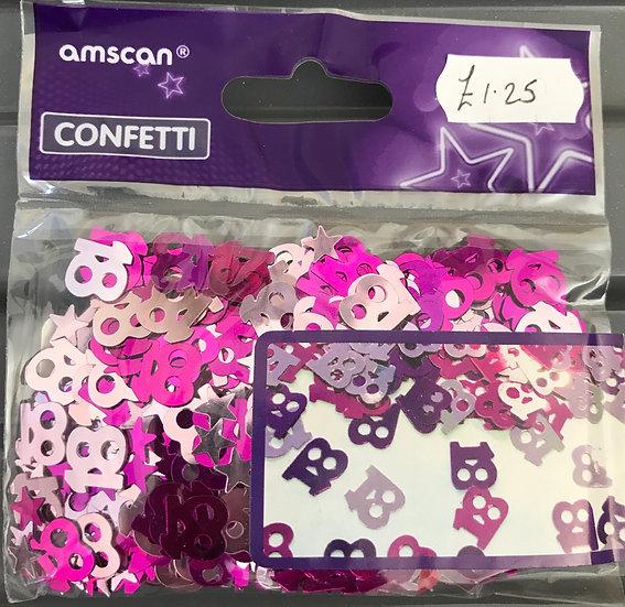 Table Confetti - Age 18 Pink/Silver