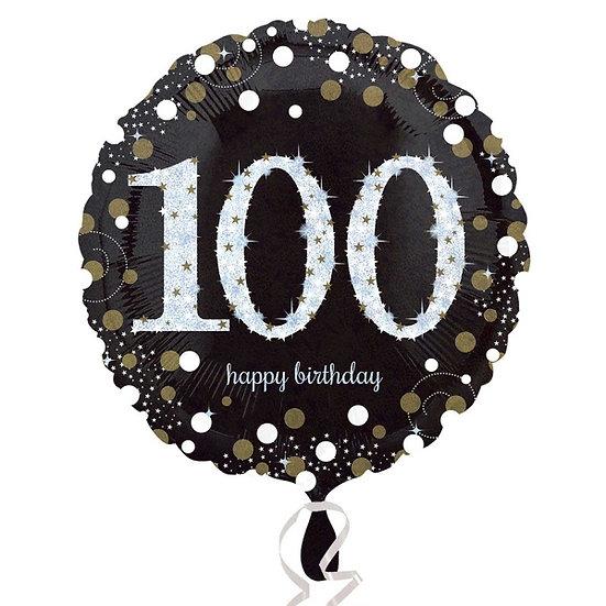 """Sparkly Black 100 - 18"""" Foil"""
