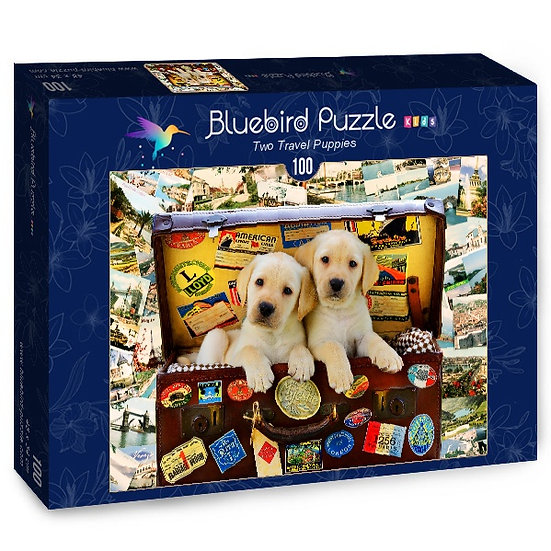 Bluebird - Two Travel Puppies (100)