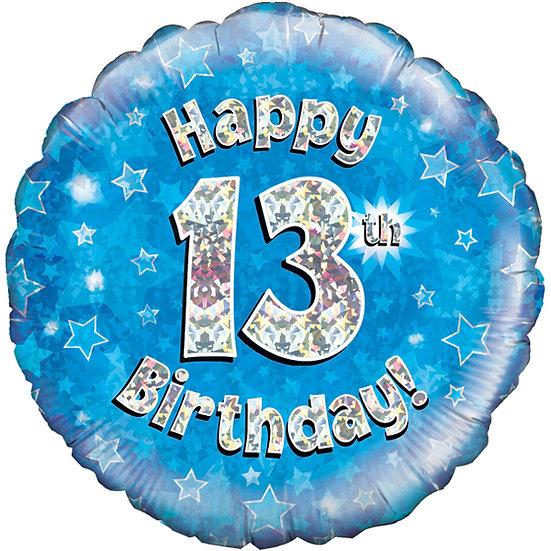 """Happy 13th Birthday -  Blue 18"""""""