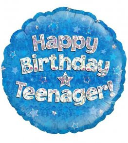 Happy Birthday Teenager - Blue 18""