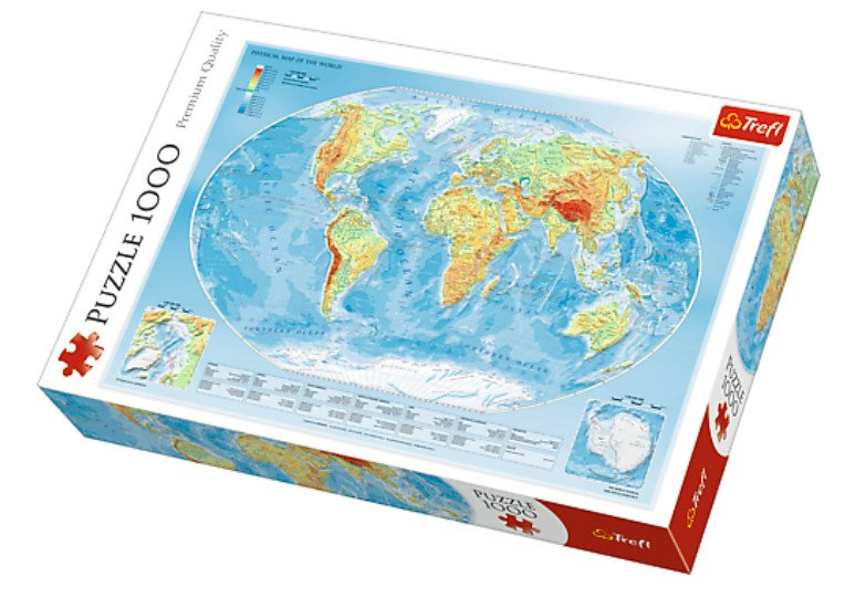 Trefl - Physical Map of the World (1000)
