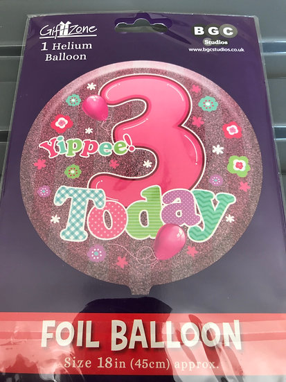 """Yippee 3 Today - Girls 18"""""""