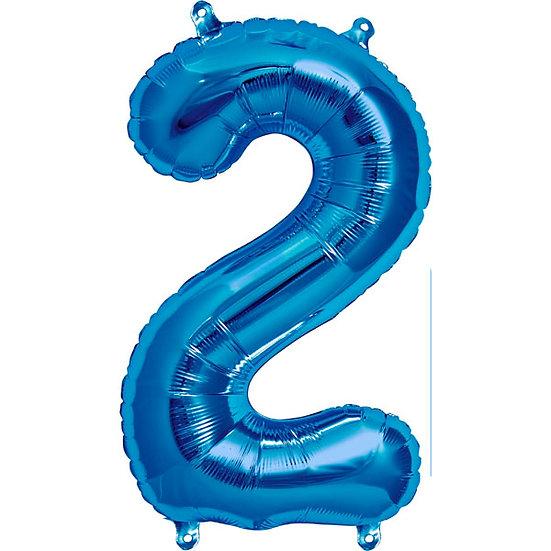 """34"""" Number 2 - Blue"""