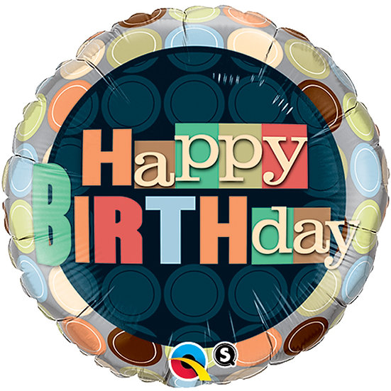 """Spotty Happy Birthday - 18"""""""