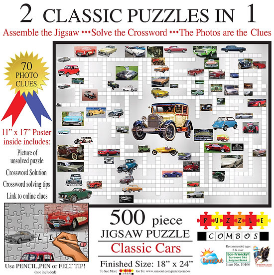 Sunsout - Classic Cars Crossword Puzzle (500)