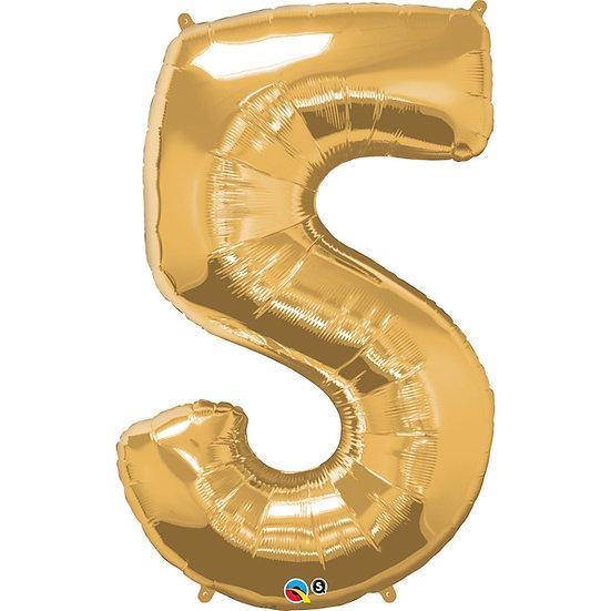 """34"""" Number 5 - Rose Gold"""