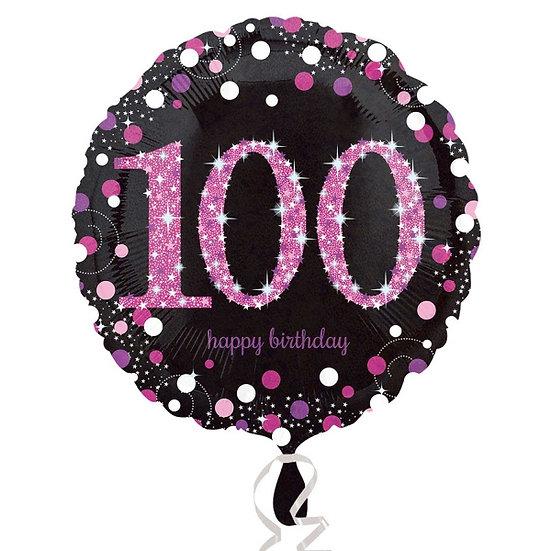 """Sparkly Pink 100 - 18"""" Foil"""
