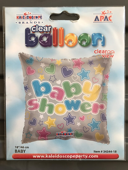 """Baby Shower Balloon - Square 18"""""""