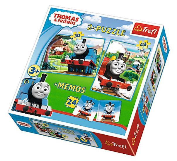 Trefl 30 pieces 2 Puzzles + Memo - Thomas & Friends
