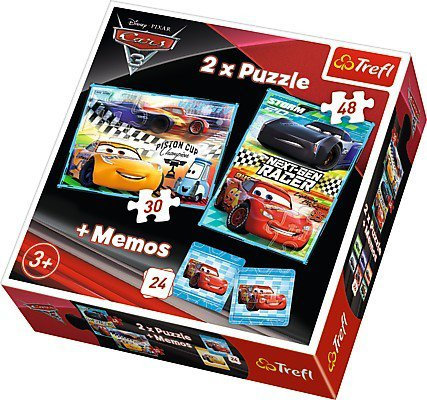 Trefl 30 pieces 2 Puzzles + Memo - Cars