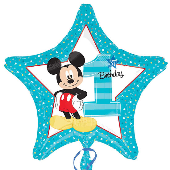 Mickey Mouse Number One - Blue 18""